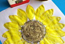 SPRING Activities/Crafts / #caterpillars #caterpillarcraft Caterpillars made with household items Preschool caterpillar craft Preschool spring arts and crafts