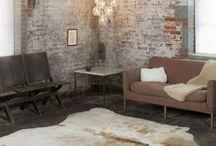 Indoor Brick walls / Blog: http://kateyoungdesign.com/ IG: https://www.instagram.com/kateyoungdesign/?hl=en