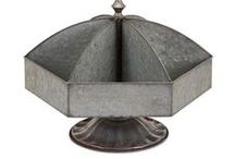 Galvanized Decor / Galvanized metal is trending.  From home decor to outdoors, you will find our Galvanized Collection has a great selection.  http://www.premierhomeandgifts.com/collections/galvanized-decor