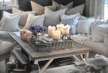 Decorative Pillows, blankets and linen.