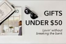 Gifts under $50 / Cheap and cheerful!