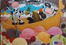 San Bernardo Show Booth / An 8 x 8 ft art commission for San Bernardo Ice Cream which will be unveiled at the South Beach Food Show 2014.