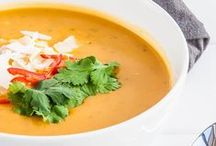Keep WARM Soups / A board full of delicious vegan & vegetarian Cozy Soups!