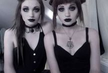 The Witch Sisters / witch Twins do Witchcraft. One white, one black. / by Morskie Novitch