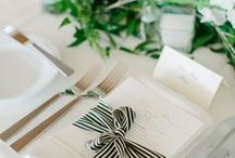 Black & white / Eye candy for a gorgeous gathering in black & white.