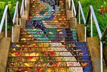 Pretty Mosaics / When things in life shatter, use the pieces to create a mosaic that is even more awesome and beautiful than what you started with :)