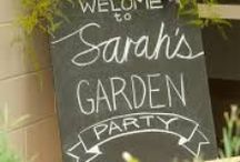 Partay Ideas / Backyard garden party