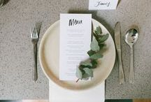 Table Settings / Inspiration for wedding planning and style.