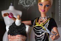 ¿Barbie?...quien te ha visto y quien te ha vestido. / Muñeca de mi infancia que se ha convertido en muñeca de culto para los de mi generación. Quien tuviera el armario de la Barbie.  / by Silvia Fernández