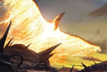 """Fantasy Art"" / ""Reign of fire."""