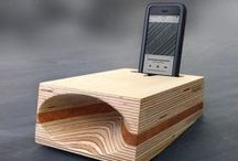Timbrefone™ Wood Speakers / Once nestled in the unique cradle—sound produced by your phone's speaker is focused into the unique acoustic cone, significantly amplifying the sound naturally. No cords, batteries or additional power required. The cradle comfortably fits all iPhones up to 6+ along with most phone cases.
