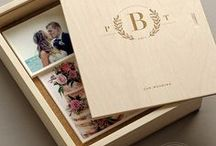 Keepsake Boxes / Keepsake boxes (cork-lines) for photos, general items, and wedding ceremony.