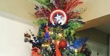 Pop Culture Christmas Trees Ideas for Geeks / Check out the superhero, Star Wars, Harry Potter and Game of Thrones Christmas trees.