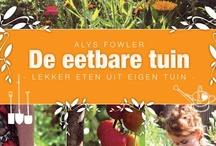Eetbare tuin / Een eetbare tuin: lekker, leerzaam en leuk voor kinderen. Waar komt je eten vandaan? Een aardbeienpot op je balkon is ook natuur. onbespoten en lekker vers.