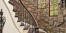 stairs wood metal