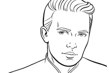 Wesley Crusher, evolved. / The Internet interprets Wesley Crusher, using a page from the Star Trek: The Next Generation Super Coloring and Activity Book.
