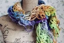 Gossamer Tangles Crocheted Scarves and Cowls / A variety of hand-crocheted scarves, cowls, and shawlettes by Gossamer Tangles - some for fun, some for fashion, some for warmth.