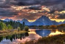 Grand Tetons and Jackson Hole / I find peace in Jackson Hole, Grand Tetons and Yellowstone.  I can finally let the world go away for awhile when I am there.  Truly, my all time favorite places to visit.  We go at least six times a year. / by Connie E.