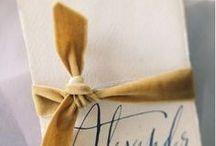 """CALLIGRAPHY / Idee grafiche in """"bella scrittura"""" per il tuo matrimonio."""