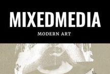 My mixedmedia prints / unieke collectie mixed media art prints