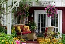 ~ Sweet Home Garden ~ / Lots of color and beauty. And great ideas. Would be great to wake up to a garden like this! ♡