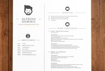 CV and business cards / This board includes pictures of CV, business cards, supports of presentation to build up a better self-image.