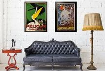 Decorating with Posters / Inspiration for decorating your space with poster art. Shop our collection of original vintage posters from the 1890s to the present on our website: http://www.internationalposter.com/