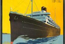 Vintage Ocean Liner Posters