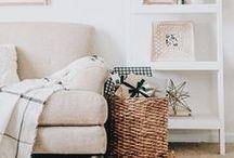Living Room Decor / Living room decor inspiration, living room decor, farmhouse living room, white living room, grey living room, boho living room