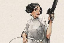 Star Wars Art - Princess Leia / by Michael Reilly