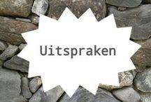 Uitspraken en zinnen / wijze woorden / by Bureau Vossen | sociale media