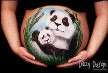Belly Painting / #pregnant #pregnancy #embarazo #embarazada #bodypaint #maquillajecorporal #bodyart