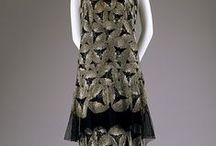 gowns et al., 1920s / the easy silhouette of the flapper dress of the 1920s (which owes as much to the suffragettes as to Coco Chanel) is a far cry from Victorian corsets and bustles, thank heaven!