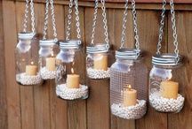 Mason Jars and Wine Bottles / by Bonita Boynton