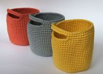 Crochet: baskets and bowls / Cestas y cuencos