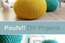Poufs and ottomans / DIY poufs and ottoman tutorials