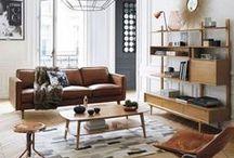 Parquet & déco vintage / Quelques intérieurs à la déco vintage avec comme revêtement de sol de magnifiques parquets.