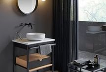 Mya / Expect to be captivated!  Open, warm-hearted and easy-going: bathroom users will find Mya irresistible: exquisite, curved wooden elements meet soft feel leather, matt finish ceramics meet warm light, and practical accessories meet functional freestanding benches and clothes rails. However, Mya also has a different side: thanks to the contemporary design language, Mya in black also has a modern, casual and certainly masculine character, from the wood to the vanity unit.