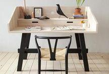 Bureaux en bois / Le bureau en bois sous toutes ses formes #bureau #vintage #recup #scandinave