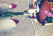 By bike!