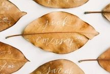 For Fall Weddings / Think of it as... When the leaves meet the aisle.