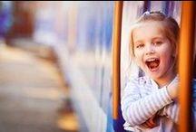 Enjoying the Train! / People enjoying train travel.