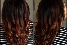Ombre and colored hair / Long hair styles,  brunette,  blond, red, ombre, colored, highlights, lowlights, beautiful, celebrity brown caramel auburn blue green wild volume sexy straight wavy curly balayge / by SilentCoax