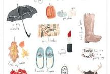Of the Drawn and the Painted / Hand painted and drawn illustration ideas.