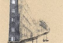 Drawn buildings