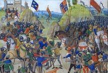 La guerra dei 100 anni / Guerra di secessione tra Francia ed Inghilterra. Iniziata nel 1337 e terminata nel 1453.