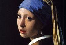 Girl with a pearl earring / Girl with a Pearl Earring is an oil painting by 17th-century Dutch painter Johannes Vermeer. It is a tronie of a girl with a headscarf and a pearl earring. The painting has been in the collection of the Mauritshuis in The Hague since 1902. - Follow me if you like it! :)