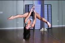 On the Pole at Rising Goddess Fitness / Pole Fitness is an empowering and incredible workout.  See some of our favorite moves at Rising Goddess Fitness