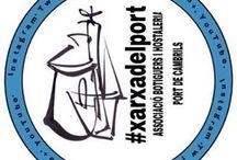 Il·lustracions i logos #xarxadelport / Logos publicitaris de la #xarxadelport l'Associacio de botiguers i hostaleria del Port de Cambrils.