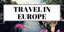 Dreams of Travel in Europe / Travel inspiration for Europe - a region full of history, sights and divine food for any type of traveller.